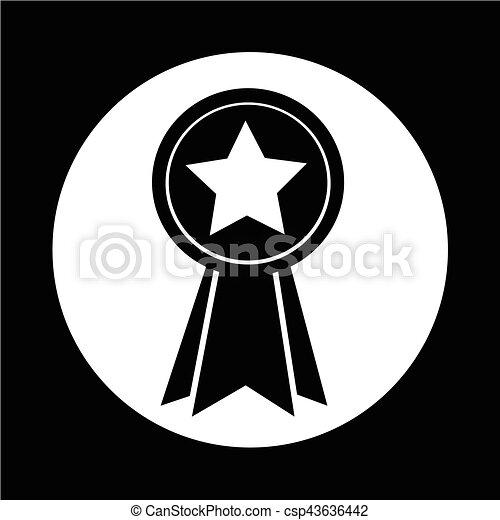 médaille, icône - csp43636442