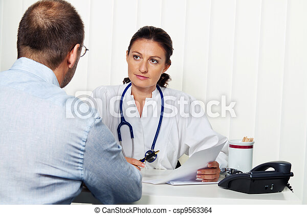 médecin, patients., pratique, conversation - csp9563364