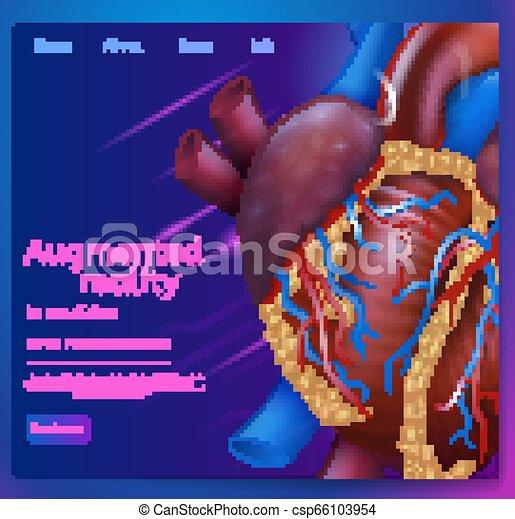 médecine, augmented, vecteur, illustration, réalité - csp66103954