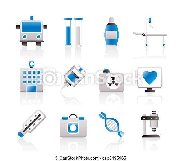 médecine, healthcare, icônes - csp5495965
