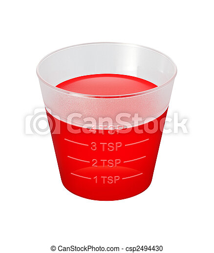 médecine, sirop toux, tasse - csp2494430