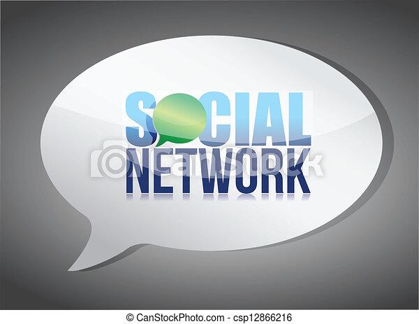 média, bulle discours, social - csp12866216