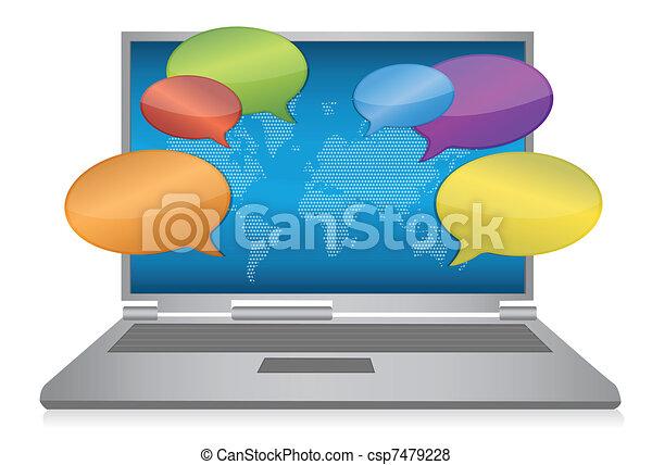 média, concept, internet, social - csp7479228