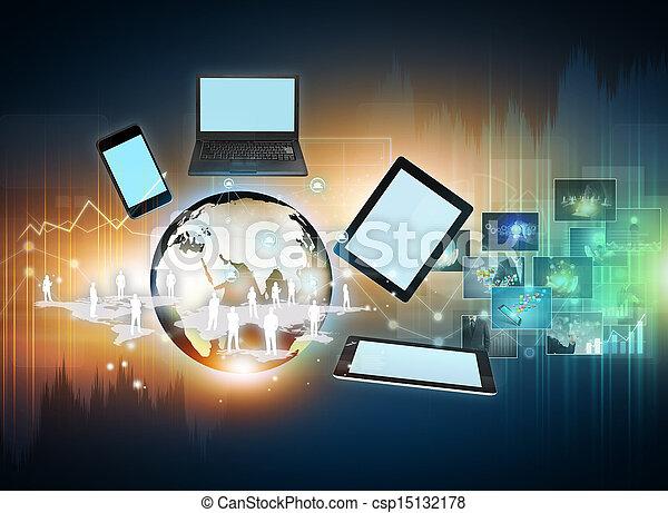 média, technológia, társadalmi - csp15132178