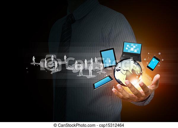 média, technológia, társadalmi - csp15312464