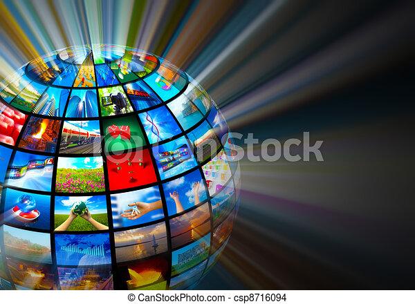 média, technologies, concept - csp8716094