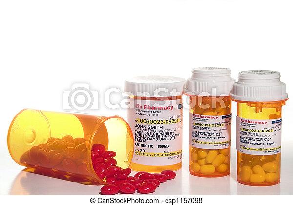 médicament, prescription - csp1157098
