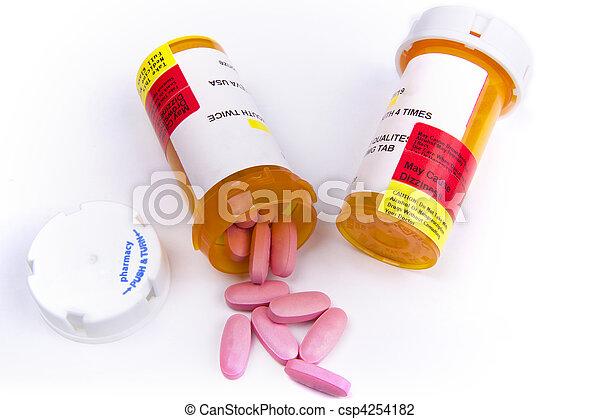 médicament, récipient, pilules - csp4254182
