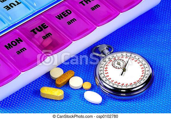médicament, temps - csp0102780