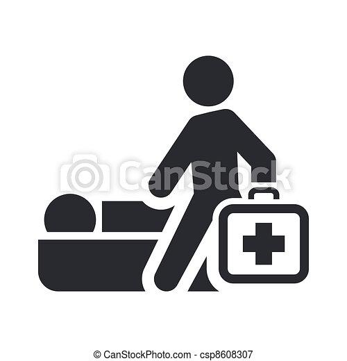 Ilustración vectora de un único icono médico aislado - csp8608307
