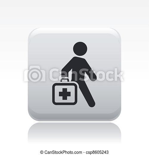 Ilustración vectora de un único icono médico aislado - csp8605243