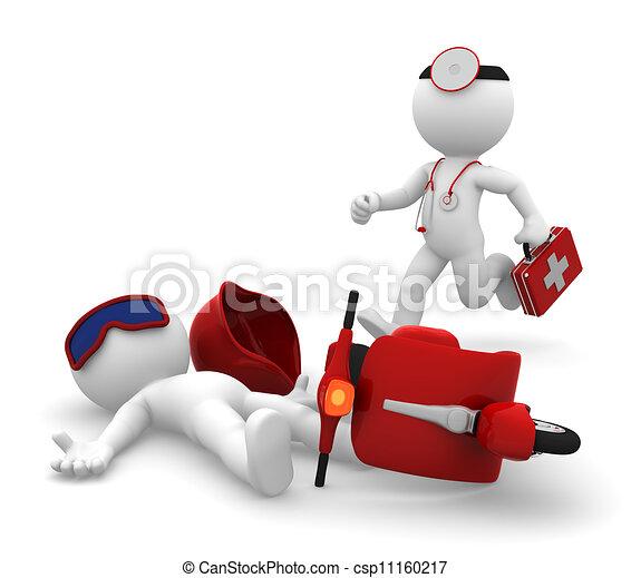 médico, aislar, emergencia, services. - csp11160217