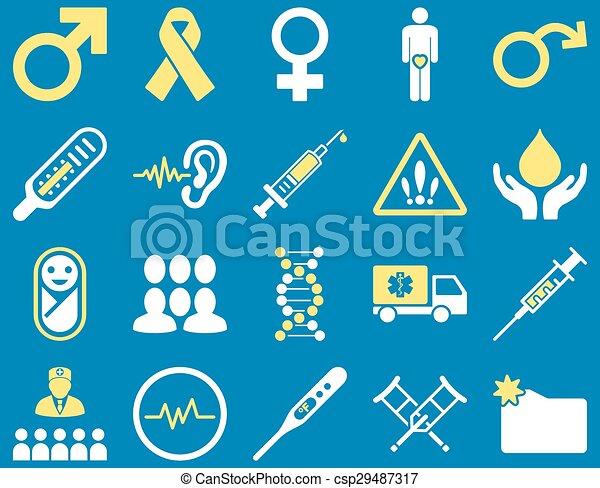 iconos bicolores médicos - csp29487317