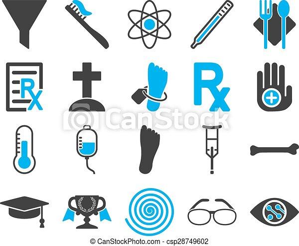 iconos bicolores médicos - csp28749602
