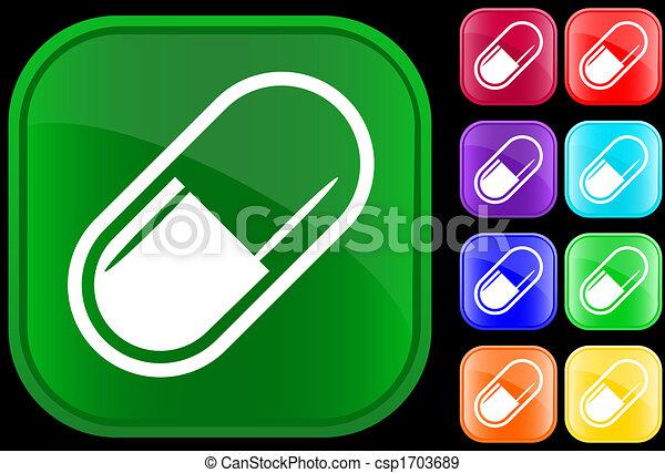 Icon de cápsula médica - csp1703689