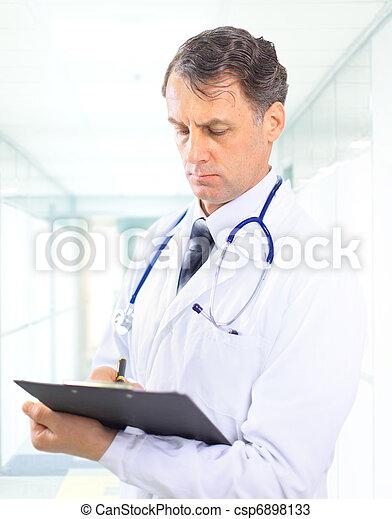 médico, estetoscópio, doutor - csp6898133