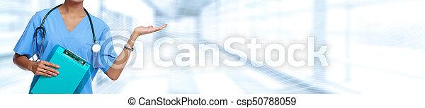 médico, estetoscópio, doutor - csp50788059