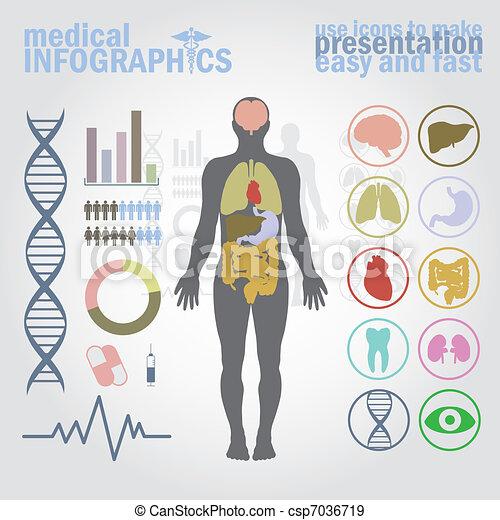 médico, infographics - csp7036719