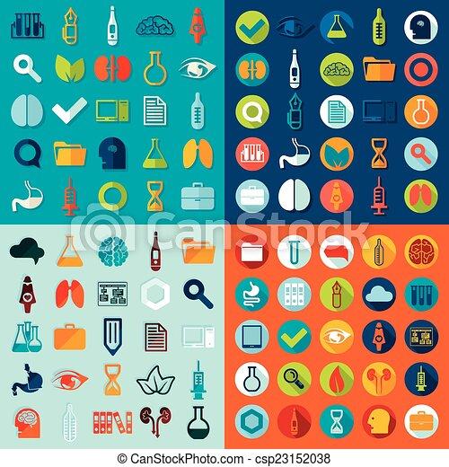 médico, jogo, ícones - csp23152038