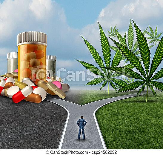 médico, marijuana, escolha - csp24582232