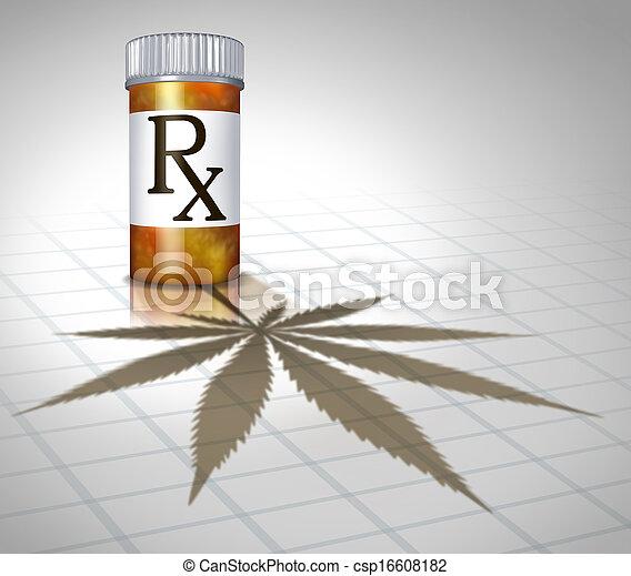 médico, marijuana - csp16608182