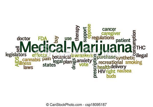 médico, marijuana - csp18095187