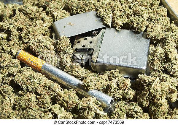 médico, marijuana - csp17473569