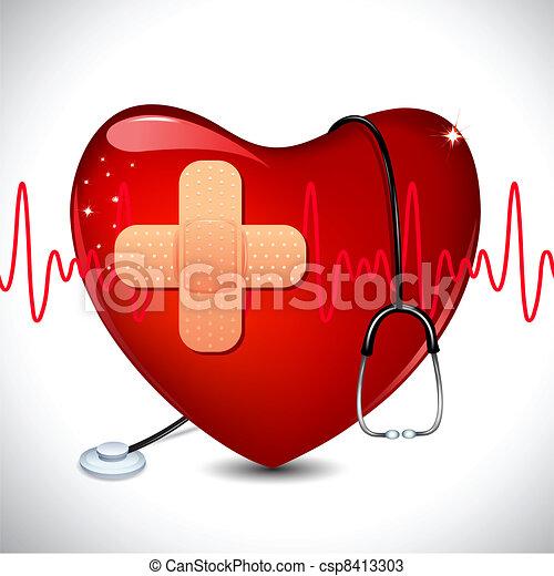 Un fondo médico - csp8413303
