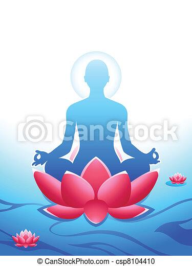 méditation, yoga - csp8104410