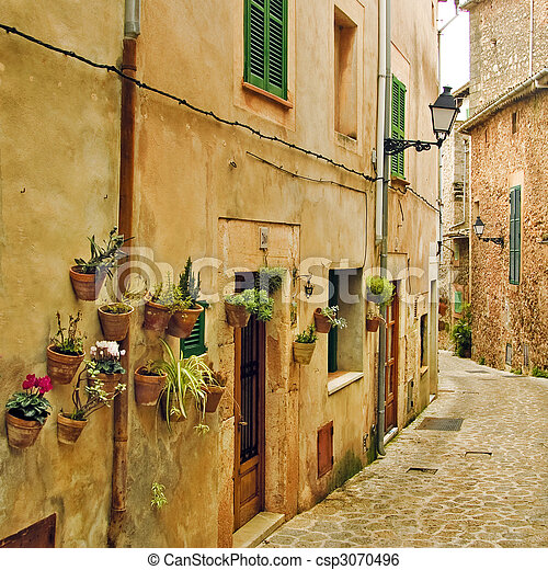 méditerranéen, village - csp3070496