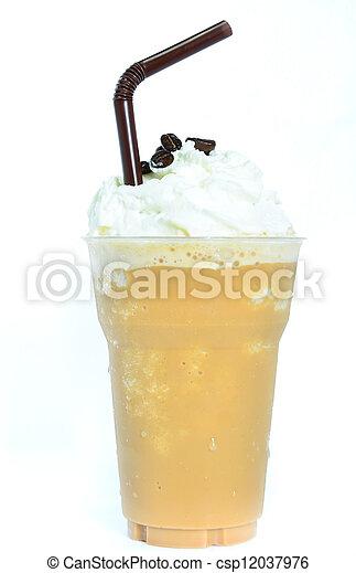 mélangé, café, fouetté, cream., glacé - csp12037976