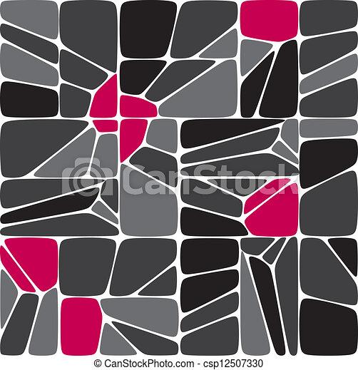 mélange, seamless, mosaïque, modèle - csp12507330
