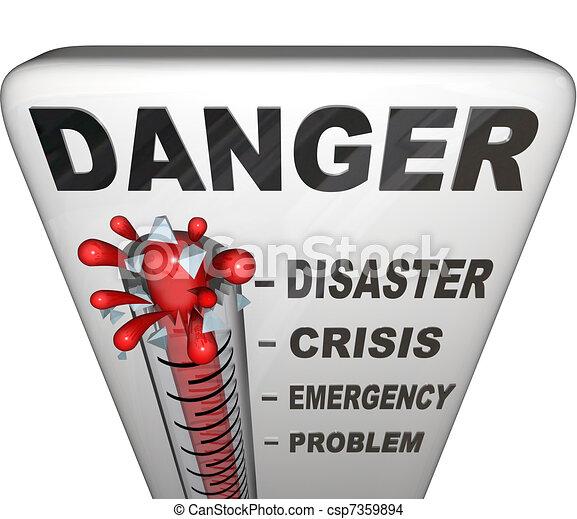 mérés, kiegyenlít, lázmérő, szükséghelyzet, veszély - csp7359894