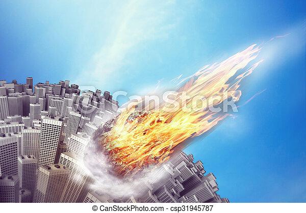 météorite, la terre - csp31945787