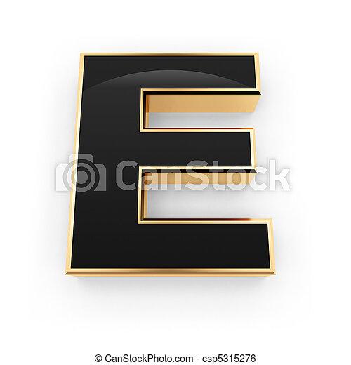 métal, e, lettre - csp5315276