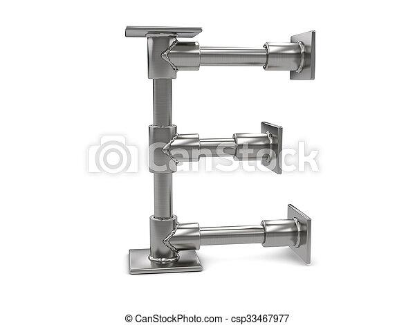 métal, e, lettre - csp33467977