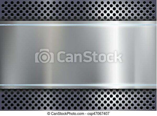 métal, fond - csp47067407
