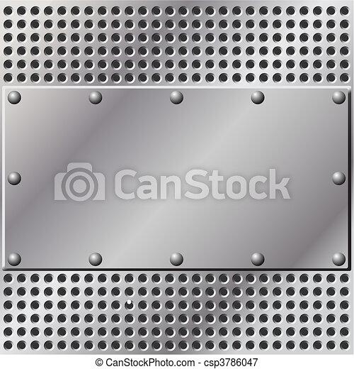 métal, fond - csp3786047