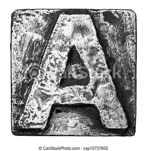 métal, lettre - csp15737602