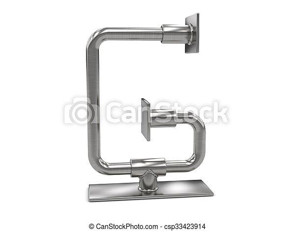 métal, lettre g - csp33423914