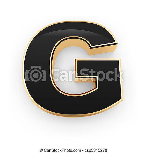 métal, lettre g - csp5315278