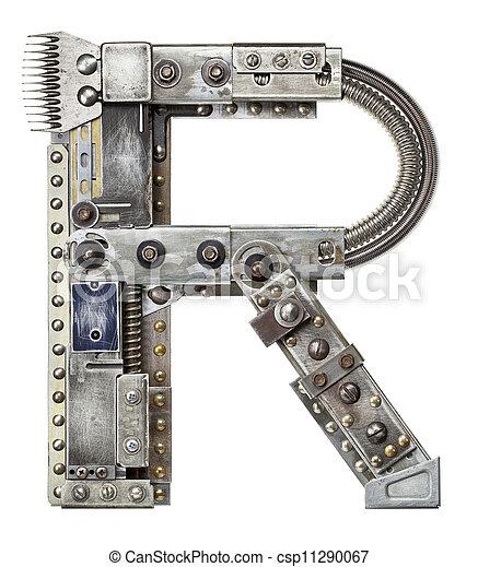 métal, lettre - csp11290067