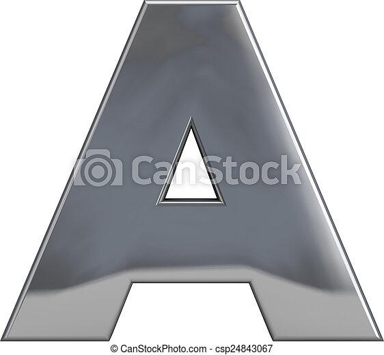métal, lettre - csp24843067