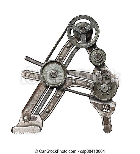 métal, lettre - csp38418064