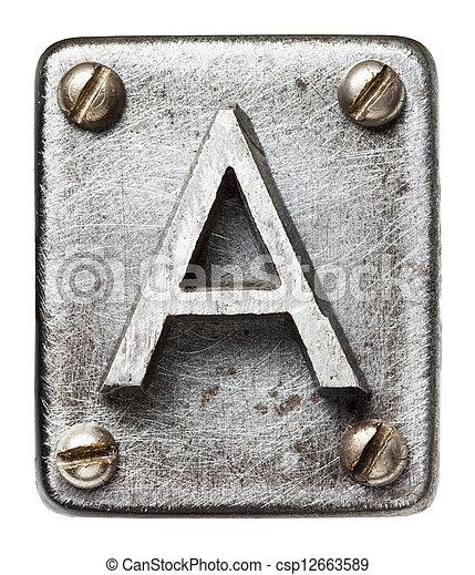 métal, lettre - csp12663589