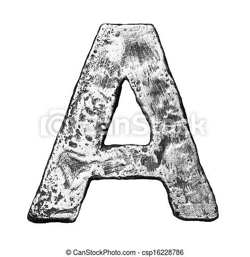 métal, lettre - csp16228786