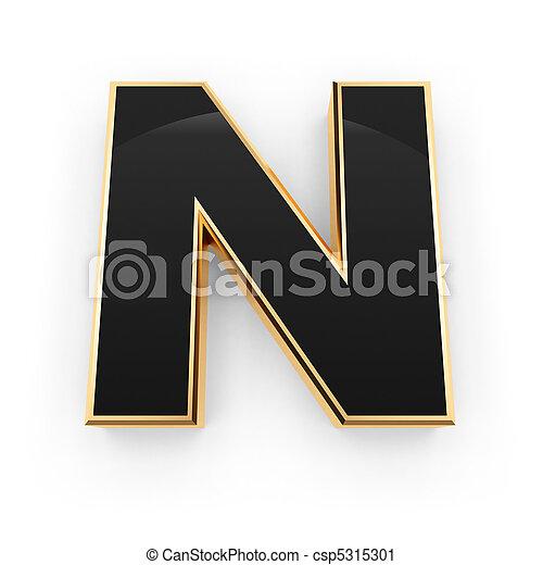 métal, lettre n - csp5315301