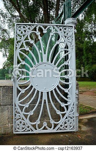 m tal lourd motif portail floral r servoir mod le m tal gris macritchie con u porte. Black Bedroom Furniture Sets. Home Design Ideas