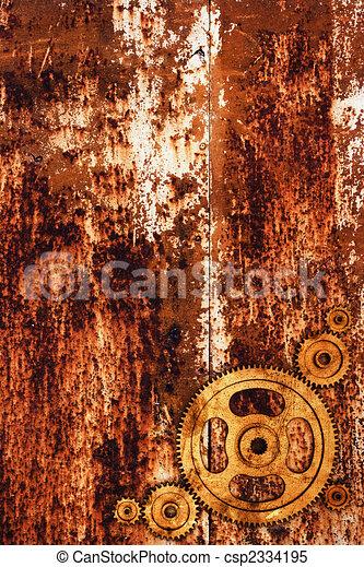 métal rouillé, fond - csp2334195