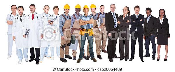 métiers, différent, longueur pleine, gens - csp20054489